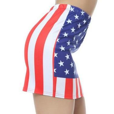 Mini American Flag Sheath Skirt