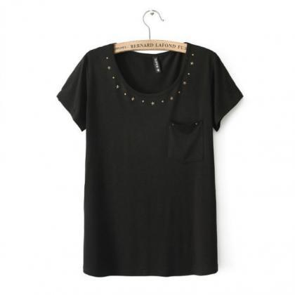 Cotton Basic Tee Featuring Stars Em..