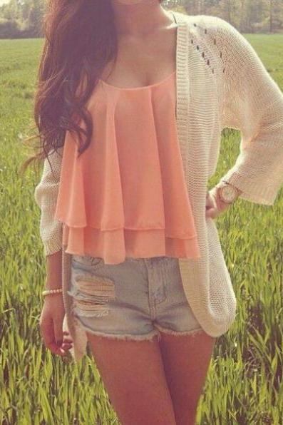 Pretty Chiffon Tank Top, Top, Tops