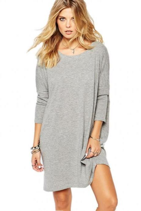 Long Tops Loose Cotton Hoodie Long Dress