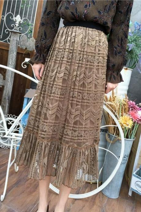 Spring Hollow Crochet's Long Skirt