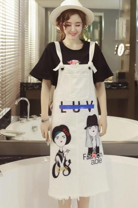 Designer Girls Printed Dungaree Cute Overalls