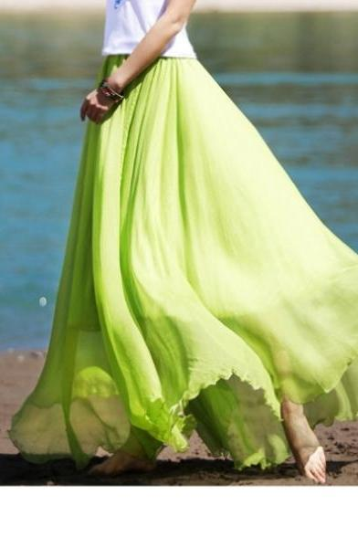 skirt,bohemian skirt,lace skirt,silk skirt,beach skirt,long skirt