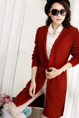 Winter Cardigans Women Fashion Long Cardigan Coat For Ladies