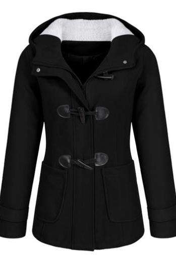 High Quality Casual Long Sleeve Hooded Collar Coat(4 Colors)